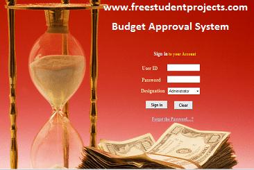 Budget approval system