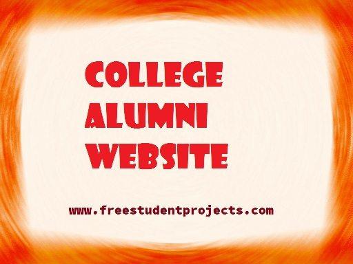 College alumni website