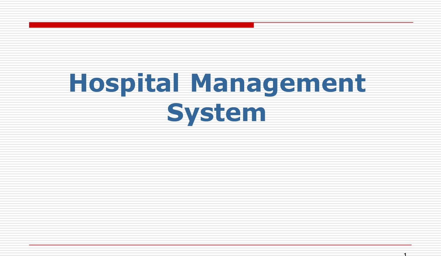 Hospital Management System Database Project
