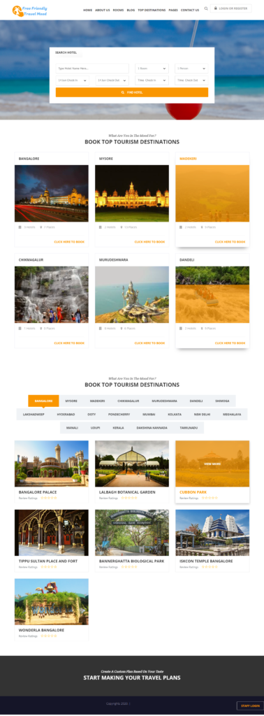 Online Tours and Travels Booking System