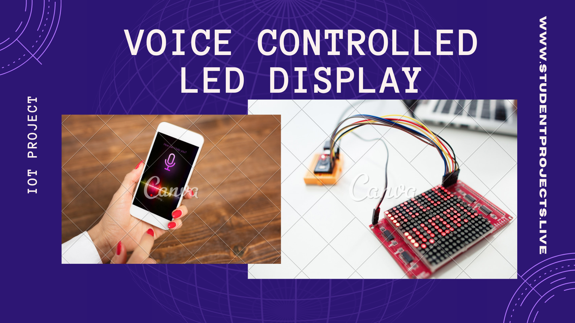 Voice controlled LED Display
