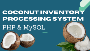Coconut processing Inventory system