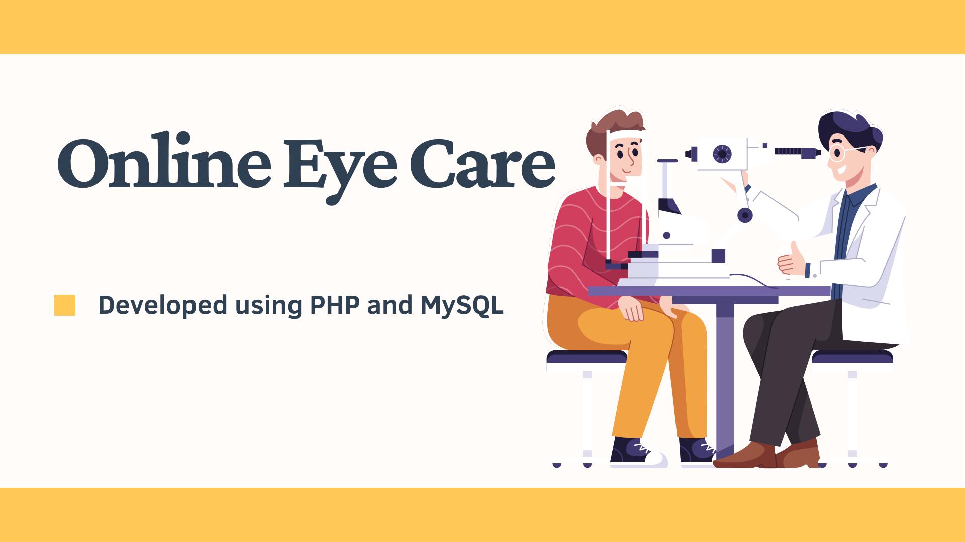 online eye clinic system